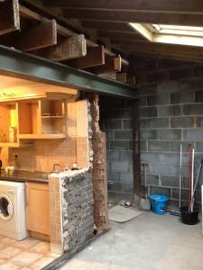 kitchen building work