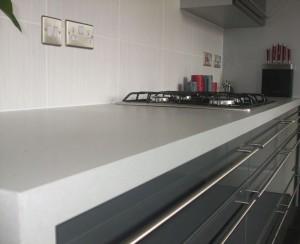 grey gloss kitchen